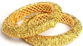 Six Latest Designs of Gold Bangles for Women
