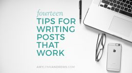 5 Tips For Writing Fresh Blog Posts